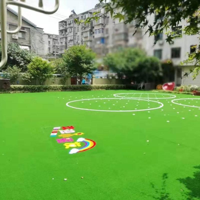 幼儿园人造卡通草坪
