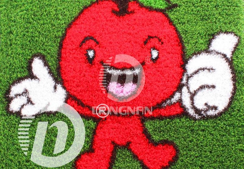 苹果卡通人造草坪
