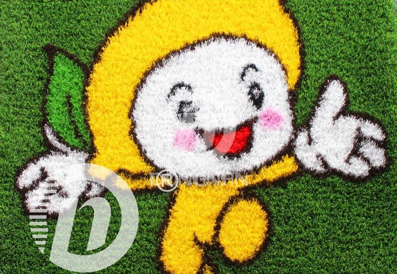 柠檬卡通人造草坪