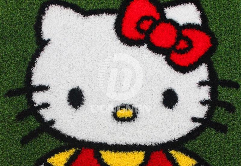卡通KT猫人造草坪